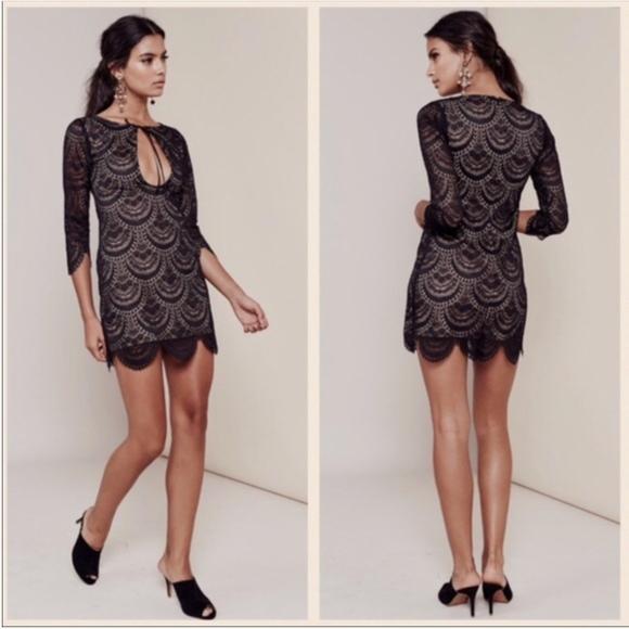 8d87f74d53b57 For Love And Lemons Dresses | For Love Lemons Black Lace Dress ...